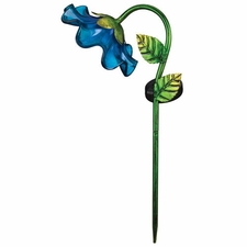 Solar Light, Mini Bell Flower, Garden Stake, Blue