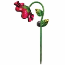 Solar Light, Mini Bell Flower, Garden Stake, Red