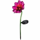 Solar Light, Mini Poppy Garden Stake, Fuchsia