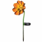 Solar Light, Mini Poppy Garden Stake, Orange