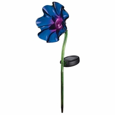 Solar Light, Mini Poppy Garden Stake, Purple