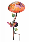Solar Light, Garden Stake, Mushroom with Butterfly