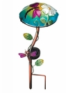 Solar Light, Garden Stake, Mushroom with Dragonfly