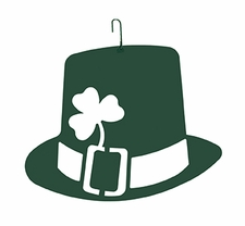 St. Patrick's Day Hat, Hanging Art, Wrought Iron