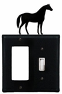 GFI and Switch Cover, Horse, Wrought Iron