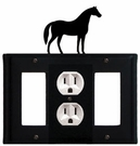 GFI, Outlet and GFI Cover, Horse, Wrought Iron