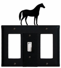 GFI, Switch and GFI Cover, Horse, Wrought Iron
