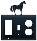 GFI, Switch and Outlet Cover, Horse, Wrought Iron