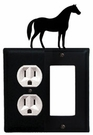 Outlet and GFI Cover, Horse, Wrought Iron