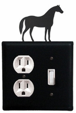Outlet and Switch Cover, Horse, Wrought Iron