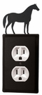 Outlet Cover, Horse, Wrought Iron