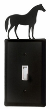 Switch Cover, Horse, Wrought Iron