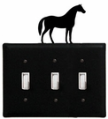 Triple Switch Cover, Horse, Wrought Iron