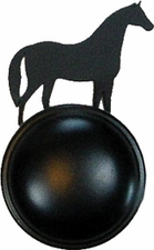 Cabinet Door / Drawer Knob, Horse, Wrought Iron