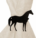 Napkin Ring, Wrought Iron, Horse, Set of 4