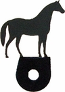 Silhouette for Cabinet Door, Horse, Black Wrought Iron