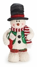 Snowman Plush Christmas Holiday Decoration, Top Hat