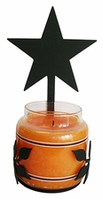 Wall Sconce, Candle Jar Holder, Star, Wrought Iron