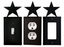 OUTLET, GFI, SWITCH COVERS, STAR, WROUGHT IRON