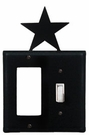 GFI and Switch Cover, Star, Wrought Iron