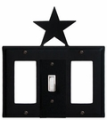 GFI, Switch and GFI Cover, Star, Wrought Iron