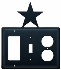 GFI, Switch and Outlet Cover, Star, Wrought Iron