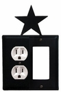 Outlet and GFI Cover, Star, Wrought Iron