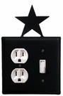 Outlet and Switch Cover, Star, Wrought Iron