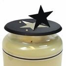 Candle Jar Topper, Star, Wrought Iron