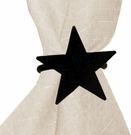 Napkin Ring, Wrought Iron, Star, Set of 4