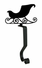 Stocking Hanger, Mantel Hook, Sleigh, Wrought Iron