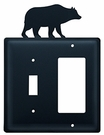 Switch and GFI Cover, Bear, Wrought Iron