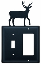 Switch and GFI Cover, Deer, Wrought Iron