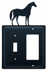 Switch and GFI Cover, Horse, Wrought Iron