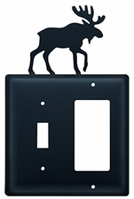 Switch and GFI Cover, Moose, Wrought Iron