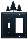 Switch and GFI Cover, Pine Trees, Wrought Iron