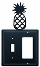 Switch and GFI Cover, Pineapple, Wrought Iron