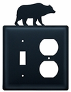 Switch and Outlet Cover, Bear, Wrought Iron