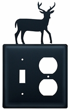 Switch and Outlet Cover, Deer, Wrought Iron