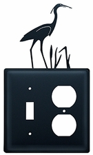 Switch and Outlet Cover, Heron, Wrought Iron