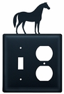 Switch and Outlet Cover, Horse, Wrought Iron