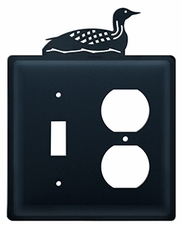 Switch and Outlet Cover, Loon, Wrought Iron