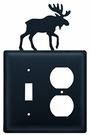 Switch and Outlet Cover, Moose, Wrought Iron