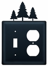 Switch and Outlet Cover, Pine Trees, Wrought Iron