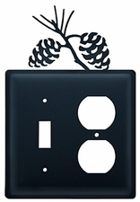 Switch and Outlet Cover, Pinecones, Wrought Iron