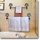 TOWEL BARS, WROUGHT IRON