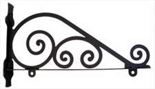 Sign Bracket, Traditional, Wrought Iron, 18 Inch