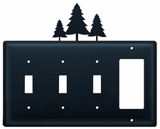 Triple Switch and GFI, Pine Trees, Wrought Iron