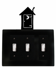 Triple Switch Cover, Outhouse, Wrought Iron