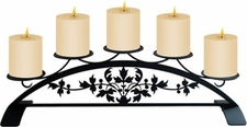Pillar Candle Holder, Victorian Design, Wrought Iron
